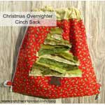 Holiday Cinch Bag Tutorial