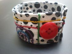 Embroidered Cuff with Button