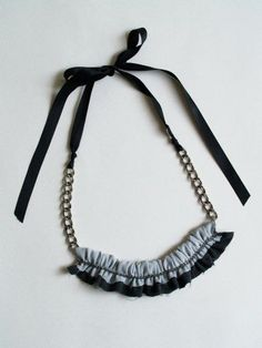 Chain and Chiffon Necklace
