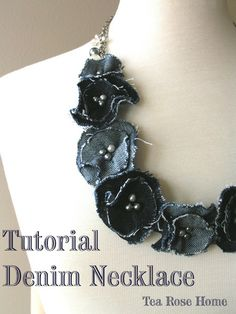 Blooming Denim Necklace