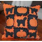 Halloween Pillow in Rag Quilt Style