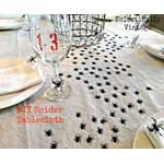 DIY Spiders Tablecloth